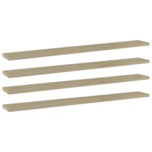 Pood24 riiuliplaadid 4 tk, Sonoma tamm, 80x10x1,5 cm, puitlaastplaat