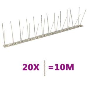 Pood24 4-realised roostevabast terasest linnupiigid, 20 tk, 10 m