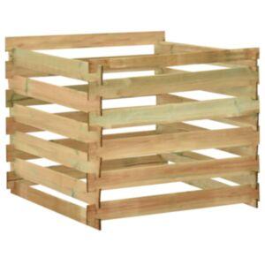 Pood24 liistudega kompostikast 100x100x80 cm, immutatud männipuit