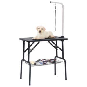 Pood24 reguleeritav koera pügamise laud koos 1 aasa ja korviga