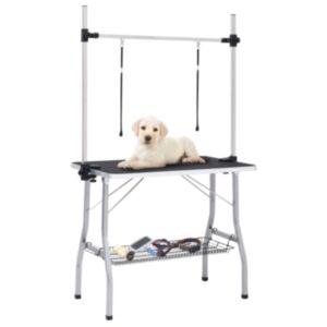 Pood24 reguleeritav koera pügamise laud 2 aasa ja korviga