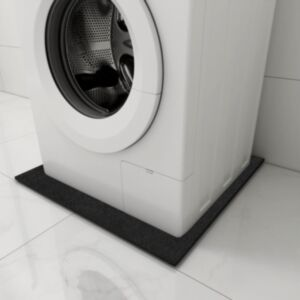Pood24 vibratsioone summutav pesumasina matt, must, 60x60x0,6 cm