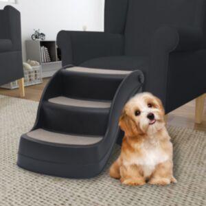 Pood24 kokkupandav 3-astmeline koeratrepp, must
