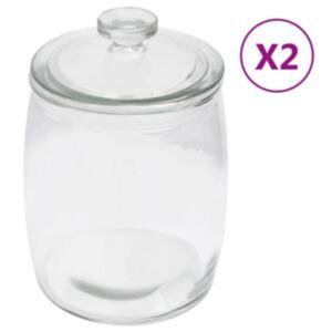 Pood24 klaasist säilituspurgid, kaanega, 2 tk, 2000 ml