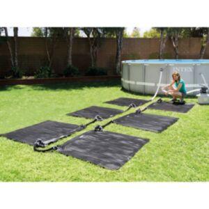 Intex päikesepatareiga küttematid 6 tk, PVC, 1,2 x 1,2 m, must