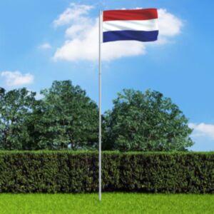 Pood24 Hollandi lipp ja lipumast, alumiinium, 4 m