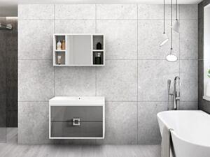 Vannitoakomplekt AVIA 345-biały / szary połysk