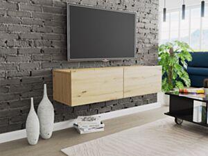Seinale kinnituv telerilaud CLAUDE CRTV120-dąb artisan