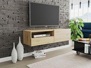 Seinale kinnituv telerilaud CLAUDE CRTVSZ120-dąb artisan