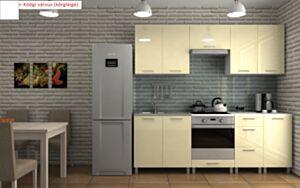 Köögimööbel DALL RELING 220cm-bialy polysk (valge kõrgläige)