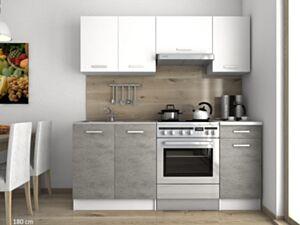 Köögimööbel LUIZA I 180cm- valge+hall
