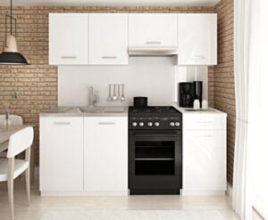 Köögimööbel LUIZA I 180 valge kõrgläige