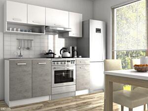 Köögikomplekt LUIZA II 180cm- valge+hall