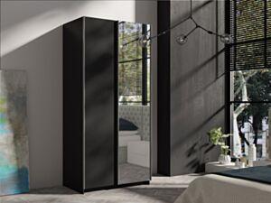 Riidekapp Palma 100-czarny / czarny + lustro