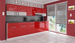 Köök Vanessa 260 cm-Punane kõrgläige