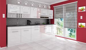 Köök Vanessa 260 cm-Valge kõrgläige